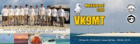 VK9MT four side QSL card, back and front
