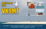 VK9MT two side QSL, front