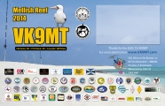 VK9MT double side QSL, front